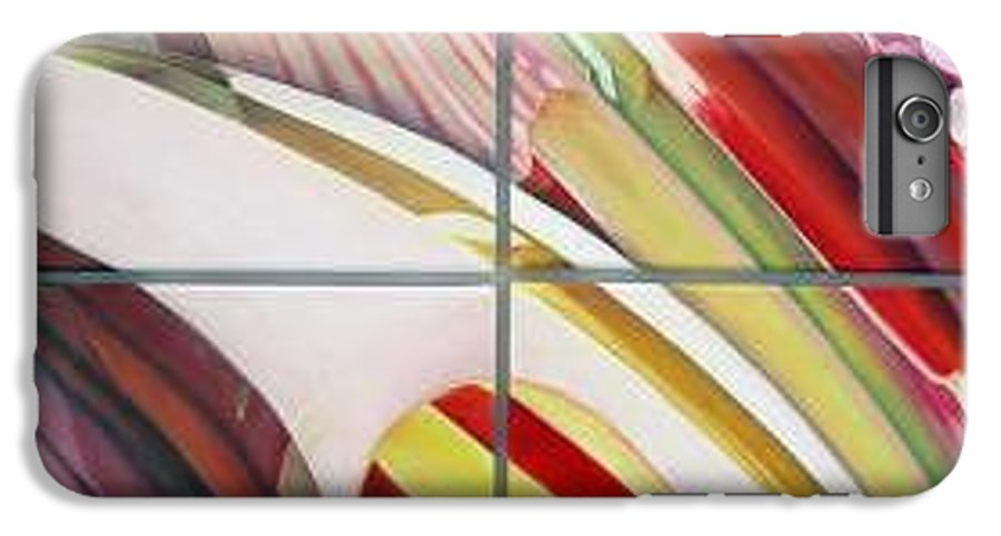 Abstract IPhone 7 Plus Case featuring the painting Sens by Muriel Dolemieux