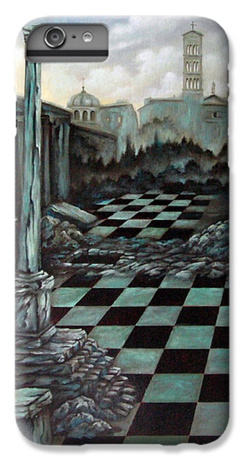Surreal IPhone 7 Plus Case featuring the painting Sepulchre by Valerie Vescovi