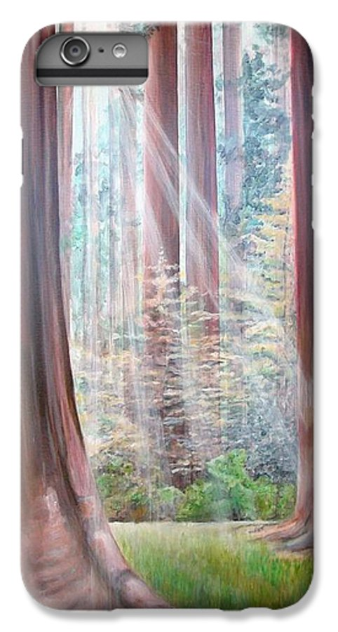Landscape IPhone 7 Plus Case featuring the painting Sequoia by Muriel Dolemieux