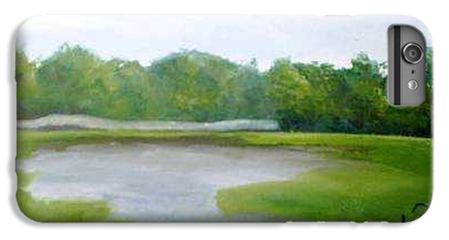 Landscape IPhone 7 Plus Case featuring the painting Serene Vista by Sheila Mashaw