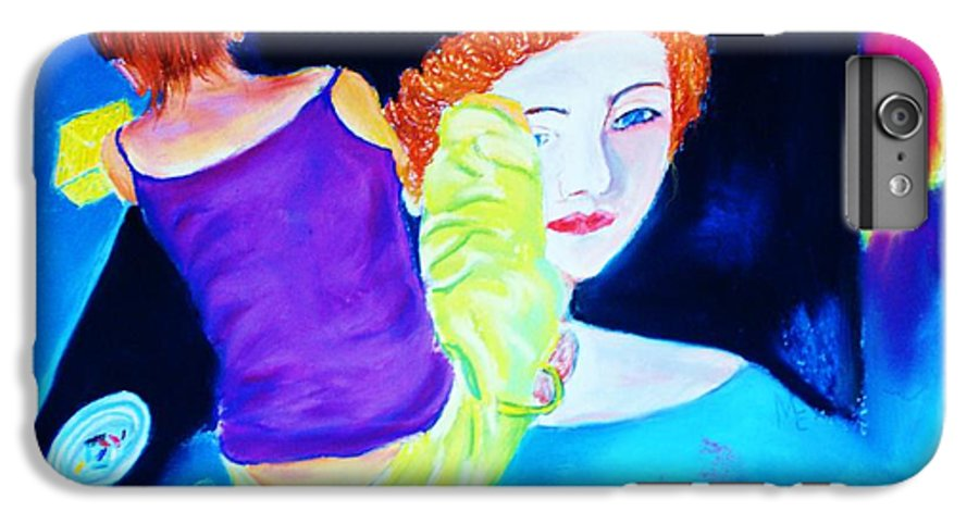 Painting Within A Painting IPhone 7 Plus Case featuring the print Sidewalk Artist II by Melinda Etzold