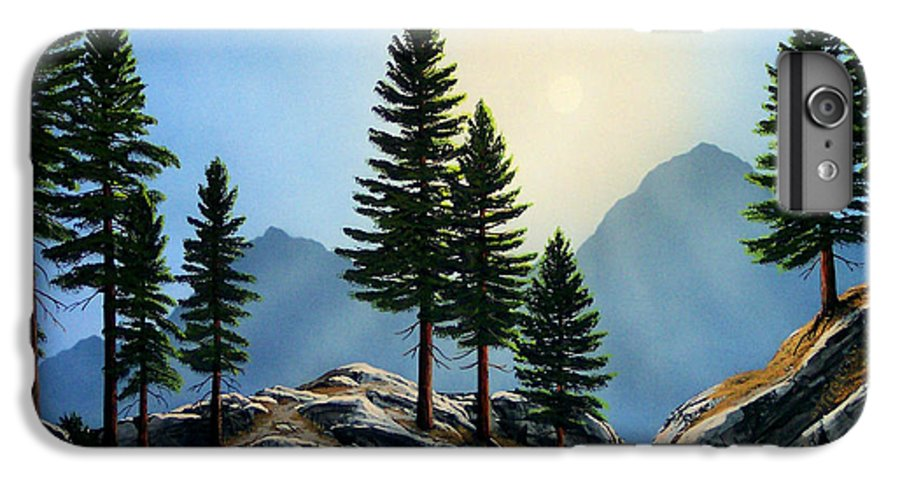 Landscape IPhone 7 Plus Case featuring the painting Sierra Sentinals by Frank Wilson
