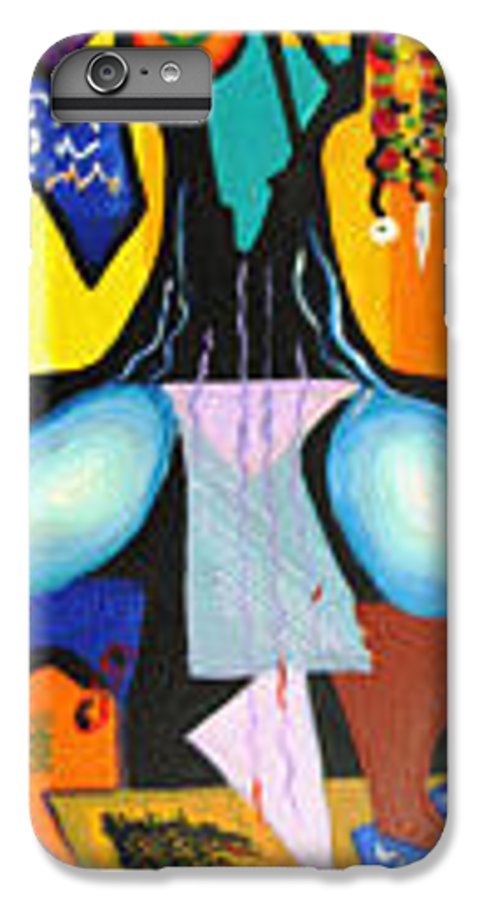 Abstract IPhone 7 Plus Case featuring the painting Simple Tree by Olga Alexeeva