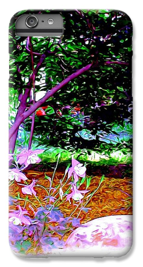 Fine Art IPhone 7 Plus Case featuring the painting Sitting In The Shade by Patricia Griffin Brett