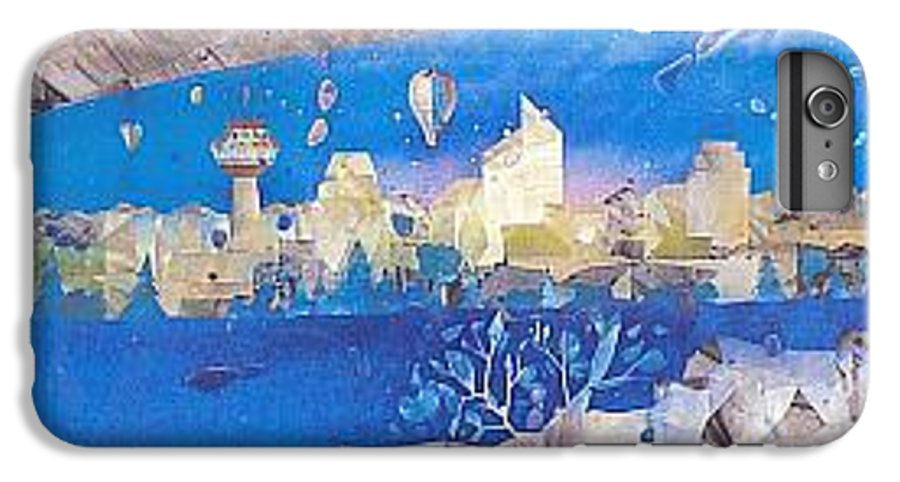 Landscape IPhone 7 Plus Case featuring the painting Skyline by Rick Silas