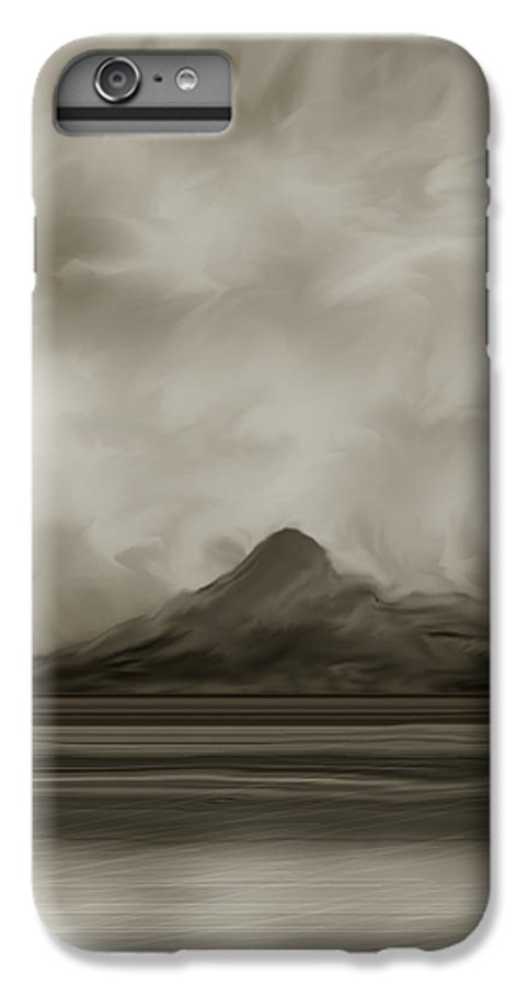 Wyoming IPhone 7 Plus Case featuring the painting Sleeping Giant And Beck Lake by Anne Norskog