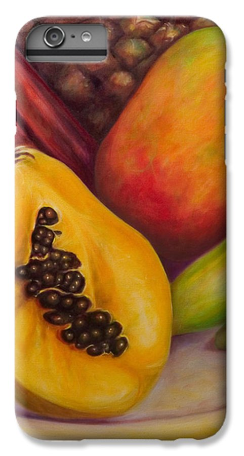 Tropical Fruit Still Life: Mangoes IPhone 7 Plus Case featuring the painting Solo by Shannon Grissom