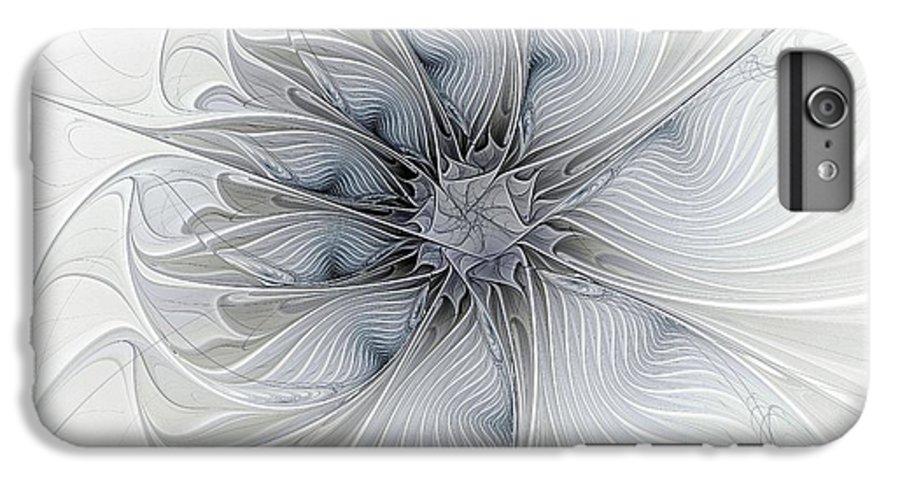Digital Art IPhone 7 Plus Case featuring the digital art Something Blue by Amanda Moore