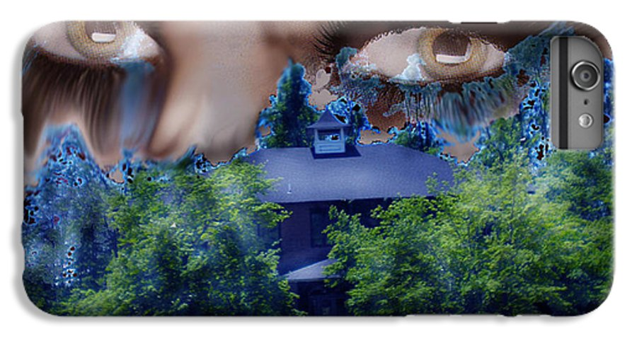 Strange House IPhone 7 Plus Case featuring the digital art Something To Watch Over Me by Seth Weaver