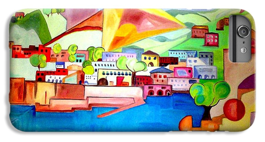 Abstract IPhone 7 Plus Case featuring the painting Sorrento by Patricia Arroyo