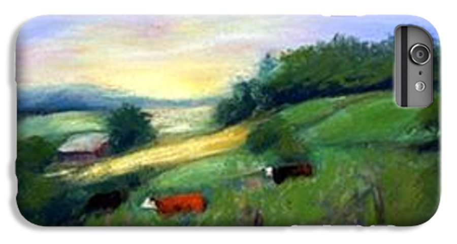 Landscape IPhone 7 Plus Case featuring the painting Southern Ohio Farm by Gail Kirtz