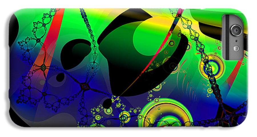 Fractal IPhone 7 Plus Case featuring the digital art Space Carnival by Frederic Durville