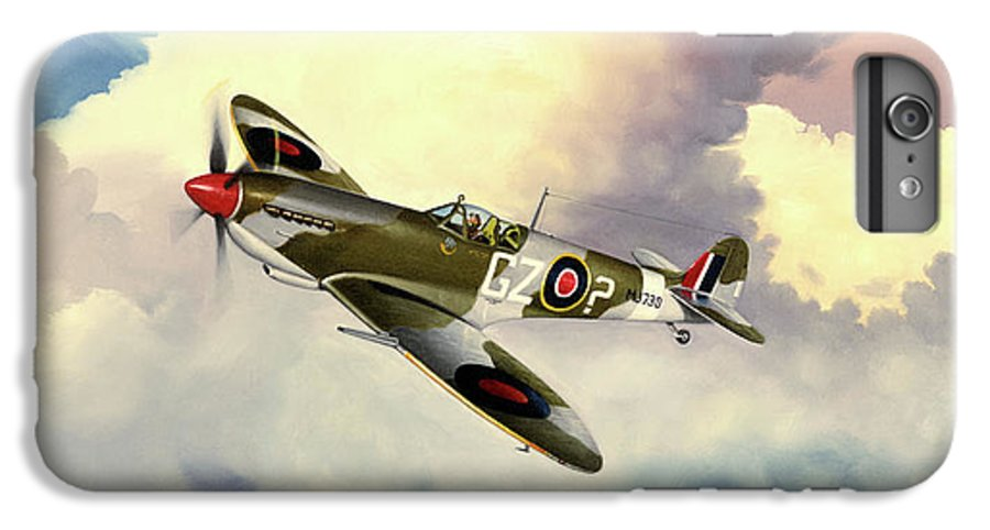 Military IPhone 7 Plus Case featuring the painting Spitfire by Marc Stewart