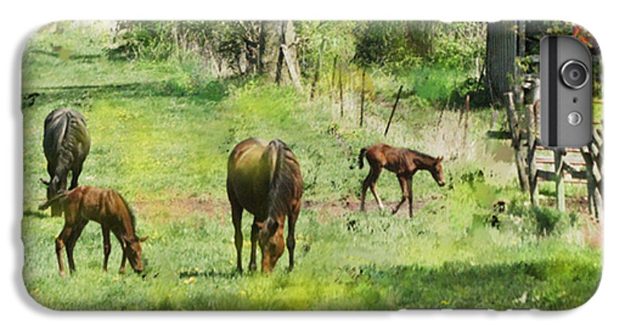 Spring Colts IPhone 7 Plus Case featuring the digital art Spring Colts by John Beck
