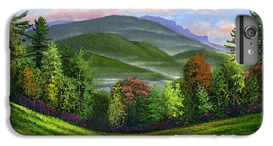 Landscape IPhone 7 Plus Case featuring the painting Spring Time by Frank Wilson