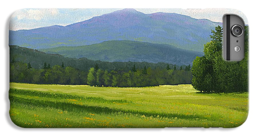 Landscape IPhone 7 Plus Case featuring the painting Spring Vista by Frank Wilson
