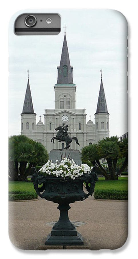 New Orleans IPhone 7 Plus Case featuring the photograph St. Louis Cathedral New Orleans by Kathy Schumann