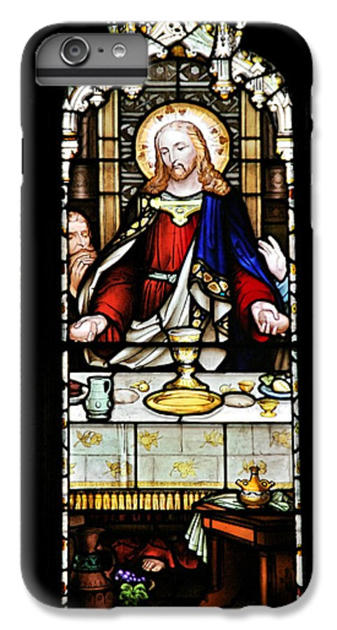 Stained IPhone 7 Plus Case featuring the photograph Stained Glass Window Last Supper Saint Giles Cathedral Edinburgh Scotland by Christine Till