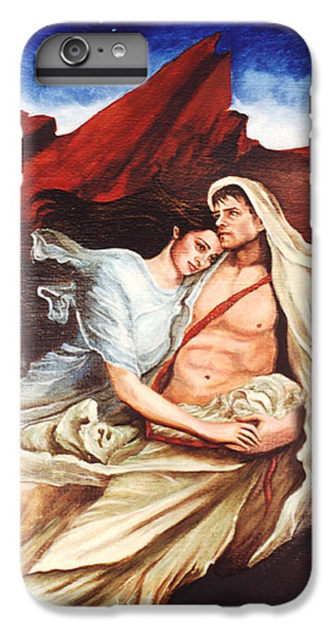 Portrait IPhone 7 Plus Case featuring the painting Star Crossed Lovers by Teresa Carter