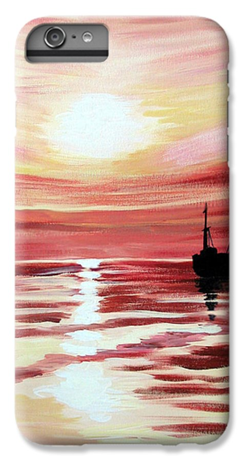 Seascape IPhone 7 Plus Case featuring the painting Still Waters Run Deep by Marco Morales