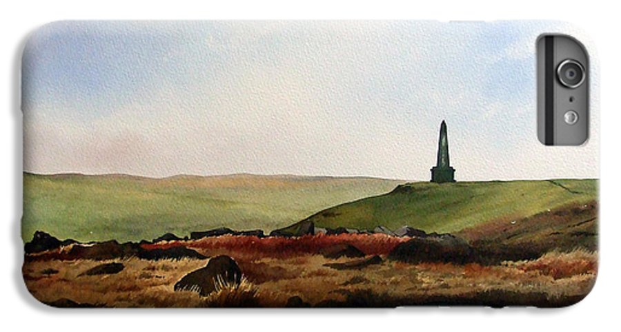 Landscape IPhone 7 Plus Case featuring the painting Stoodley Pike by Paul Dene Marlor