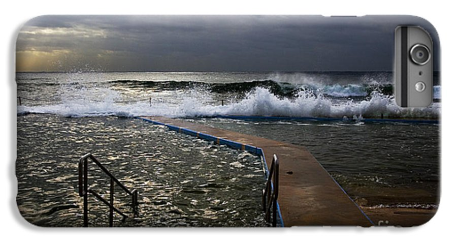 Storm Clouds Collaroy Beach Australia IPhone 7 Plus Case featuring the photograph Stormy Morning At Collaroy by Avalon Fine Art Photography