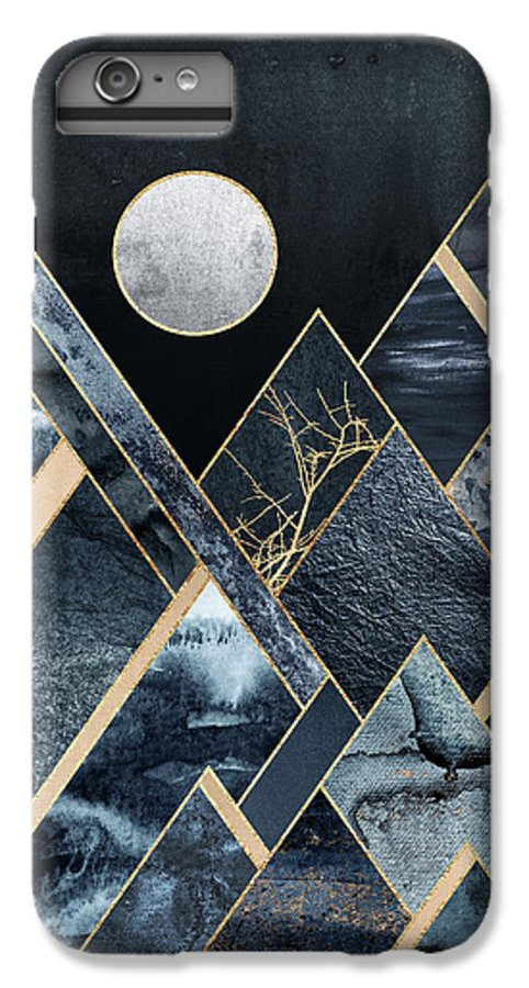 Graphic IPhone 7 Plus Case featuring the digital art Stormy Mountains by Elisabeth Fredriksson