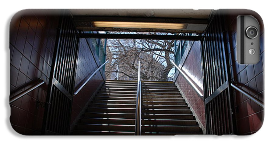 Pop Art IPhone 7 Plus Case featuring the photograph Subway Stairs To Freedom by Rob Hans