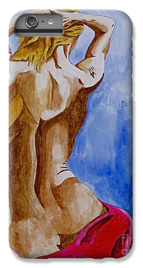 Nude By Herschel Fall Very Hot Nude IPhone 7 Plus Case featuring the painting Summer Morning by Herschel Fall