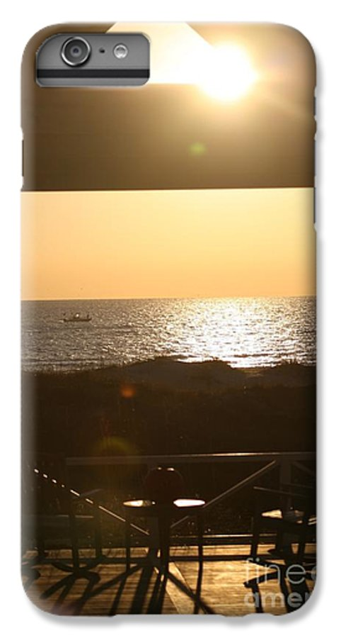 Sunrise IPhone 7 Plus Case featuring the photograph Sunrise Through The Pavilion by Nadine Rippelmeyer