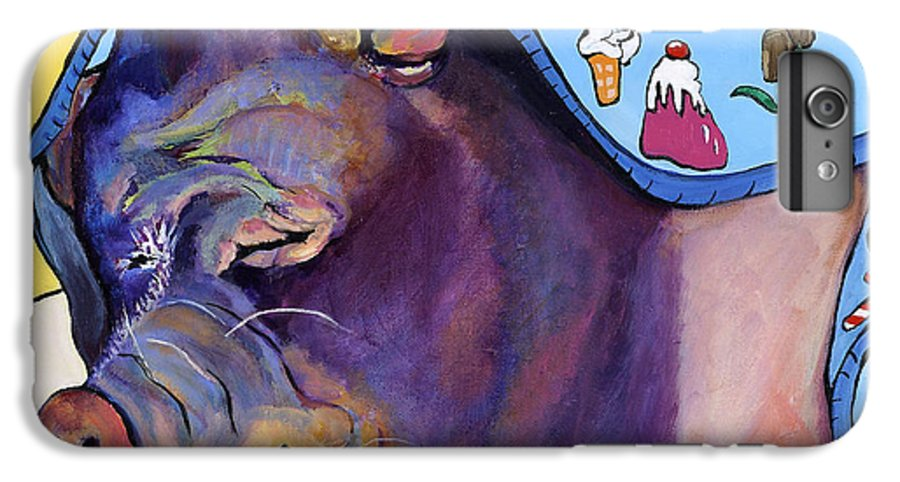 Farm Animal IPhone 7 Plus Case featuring the painting Sweet Dreams by Pat Saunders-White