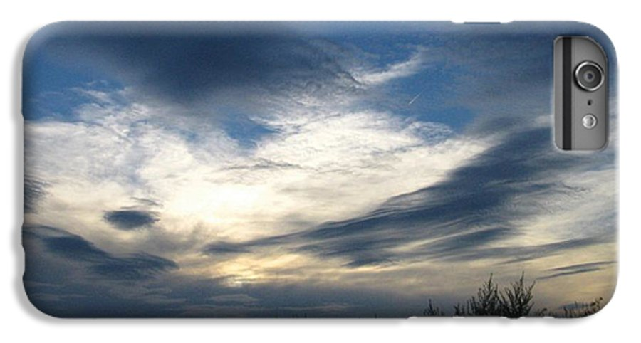 Sky IPhone 7 Plus Case featuring the photograph Swirling Skies by Rhonda Barrett