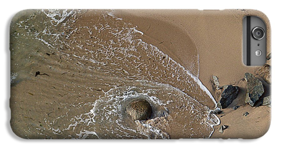 Big Sur IPhone 7 Plus Case featuring the photograph Swirling Surf And Rocks by Charlene Mitchell