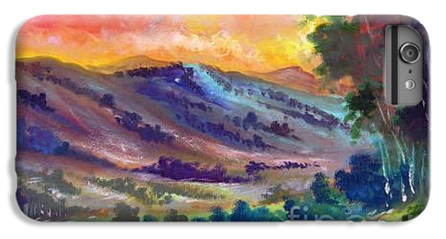 Landscape IPhone 7 Plus Case featuring the painting Tarde De Sol by Leomariano artist BRASIL