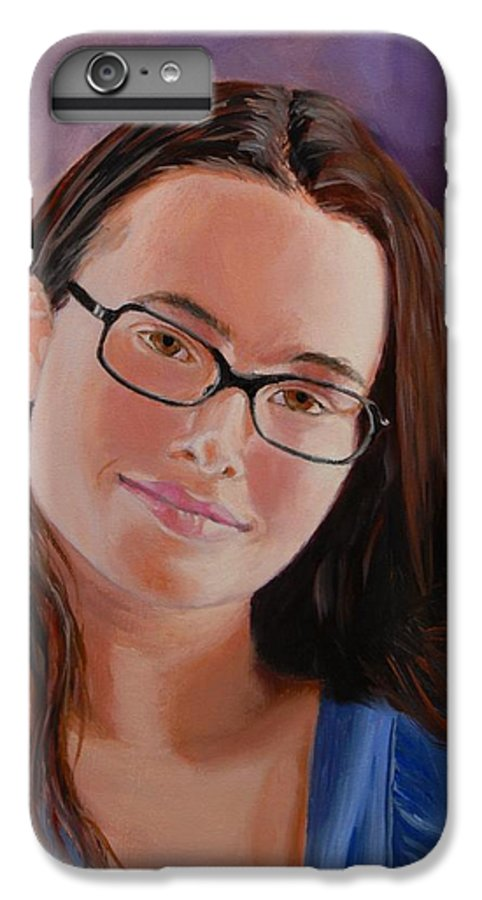 Portrait IPhone 7 Plus Case featuring the painting Taryn Snow by Quwatha Valentine