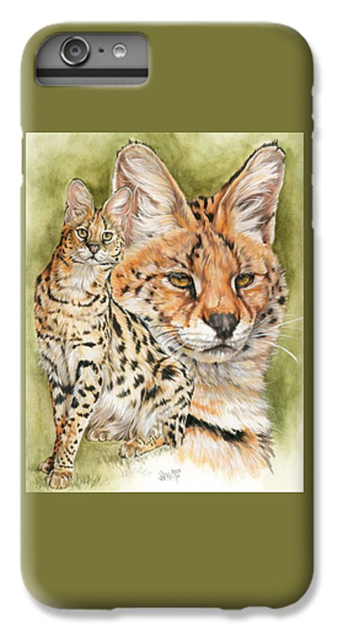 Serval IPhone 7 Plus Case featuring the mixed media Tempo by Barbara Keith