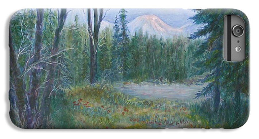 Landscape IPhone 7 Plus Case featuring the painting Teton Valley by Ben Kiger