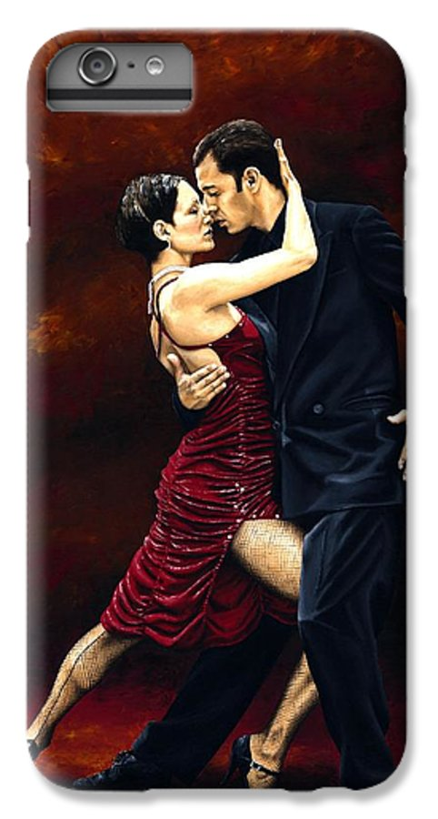 Tango IPhone 7 Plus Case featuring the painting That Tango Moment by Richard Young