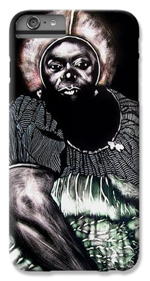 IPhone 7 Plus Case featuring the mixed media The Adjudecator by Chester Elmore