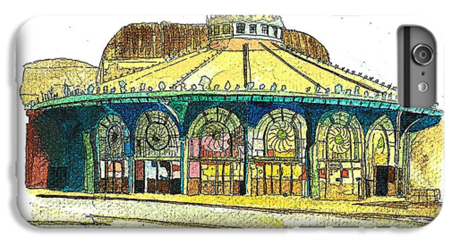 Asbury Art IPhone 7 Plus Case featuring the painting The Asbury Park Casino by Patricia Arroyo