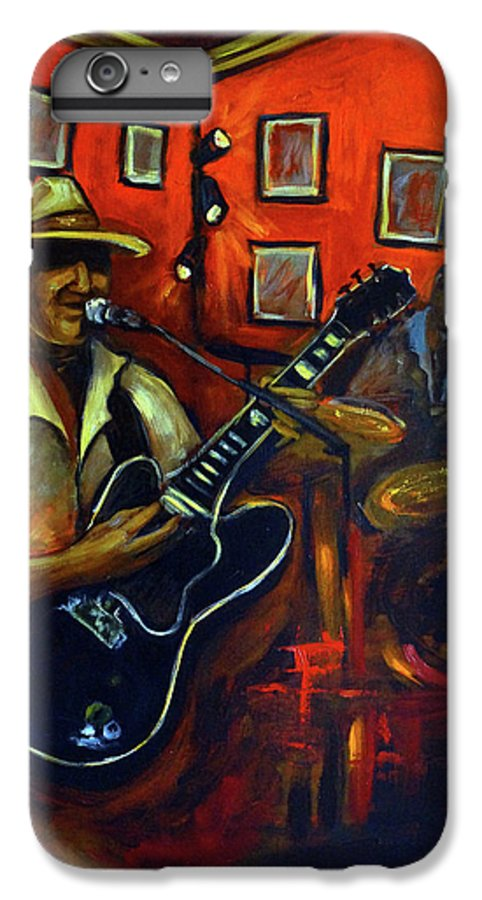 Blues IPhone 7 Plus Case featuring the painting The Back Room by Valerie Vescovi