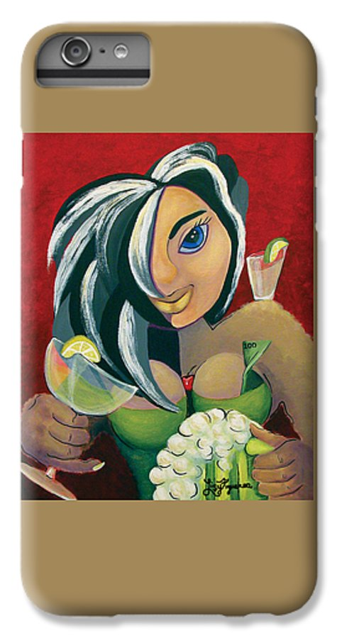 Bar IPhone 7 Plus Case featuring the painting The Barwaitress by Elizabeth Lisy Figueroa