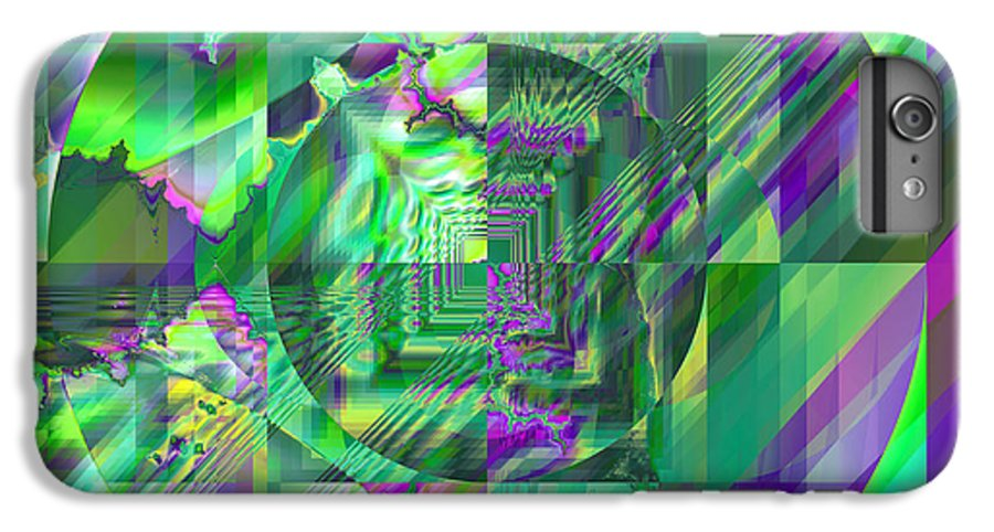 Fractal IPhone 7 Plus Case featuring the digital art The Crazy Fractal by Frederic Durville