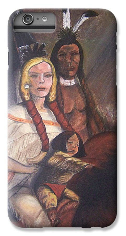 Artwork IPhone 7 Plus Case featuring the painting The Cynthia Ann Parker Family by Laurie Kidd