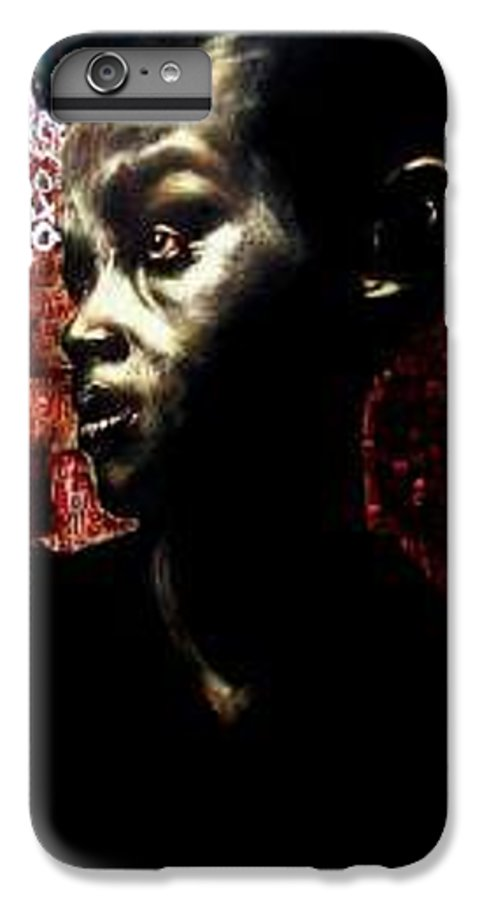 Portrait IPhone 7 Plus Case featuring the mixed media The Day We First Met by Chester Elmore