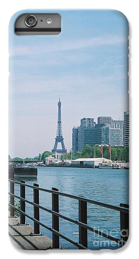 The Eiffel Tower IPhone 7 Plus Case featuring the photograph The Eiffel Tower And The Seine River by Nadine Rippelmeyer