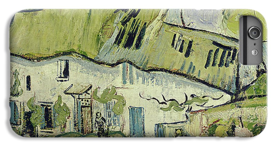 The Farm In Summer IPhone 7 Plus Case featuring the painting The Farm In Summer by Vincent van Gogh