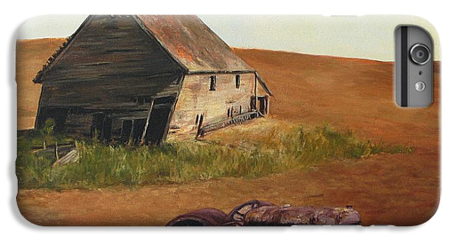 Oil Paintings IPhone 7 Plus Case featuring the painting The Forgotten Farm by Chris Neil Smith