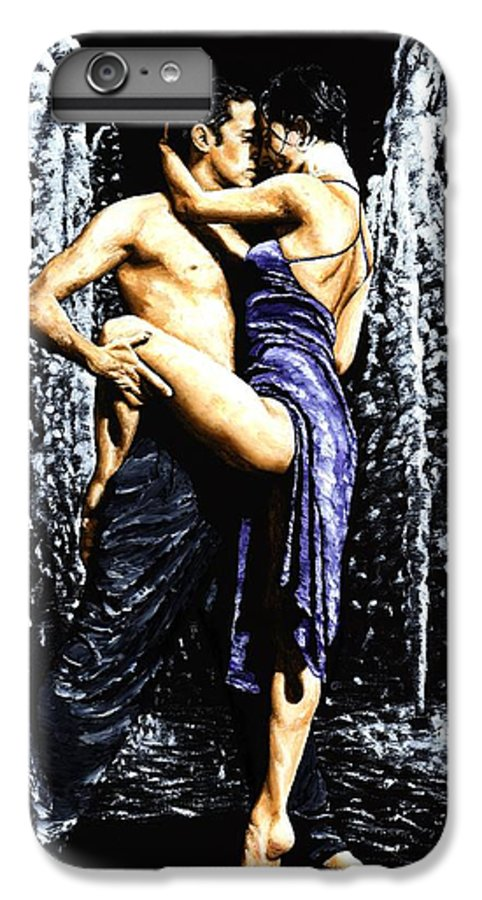 Tango IPhone 7 Plus Case featuring the painting The Fountain Of Tango by Richard Young