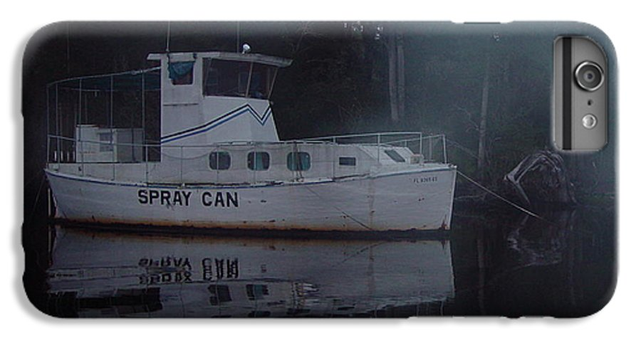 Boat IPhone 7 Plus Case featuring the painting The Ghost Ship by Debbie May